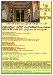 Locandina Vestizione di San Jacopo 16 luglio 2015