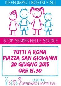 stop gender roma 20 giugno