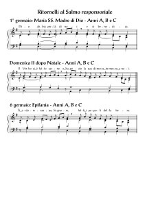 Solennita Madre Di Dio - II Domenica dopo Natale - Epifania - anni ABC