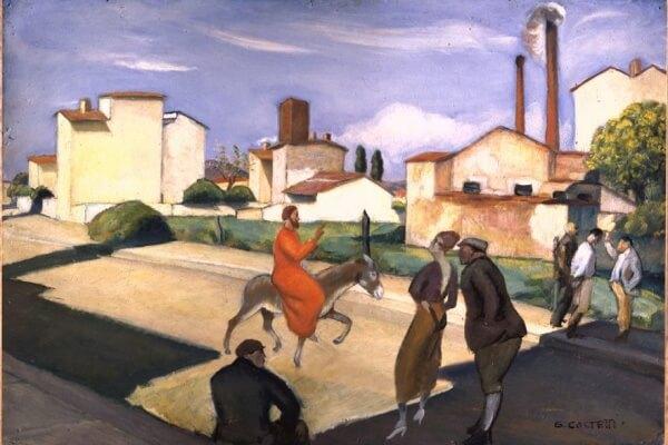 Giovanni Costetti, L'entrata di Cristo in Gerusalemme (1923) Firenze, Galleria d'arte moderna di Palazzo Pitti